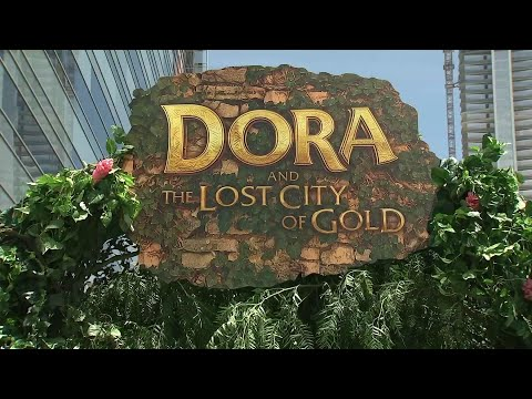 "At the premiere for ""Dora and the Lost City of Gold,"" actress Eva Longoria says she's excited that she's ""finally in a movie my son can watch,"" with Michael Pena adding his son is also excited. (July 29)"