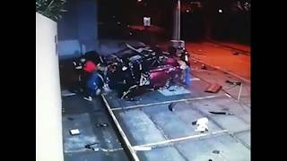 Авария. Чудом вышел из машины невредимый.