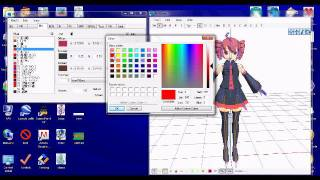 How to Recolor an MMD model by using PMDEditor (for newcomers)