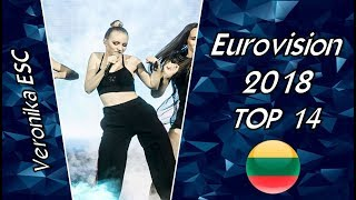 Eurovision 2018 Lithuania Top 14 Of Semifinals