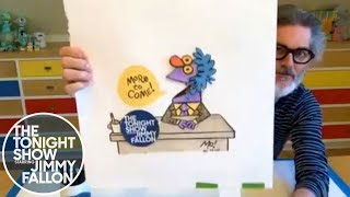 "Mo Willems Gives Jimmy a ""Squillem"" Doodle Lesson thumbnail"