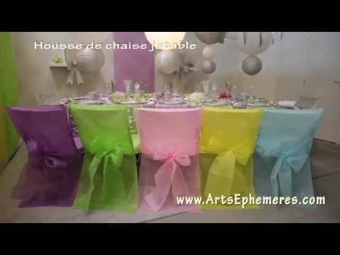 Housse de chaise - Déco Arts Ephémères