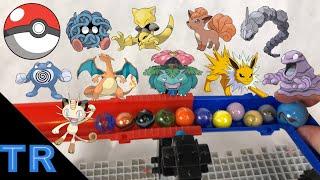 HUGE Pokemon Marble Elimination Race | Toy Racing