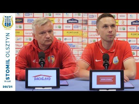 Trenerzy po meczu Stomil Olsztyn - Miedź Legnica 1:1