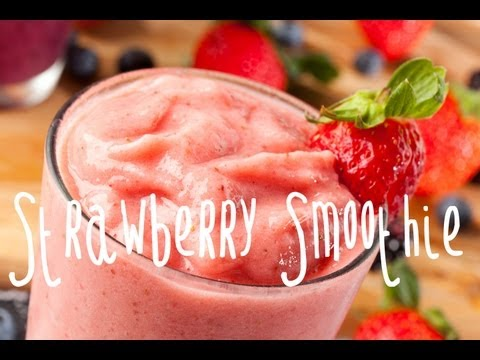Video How to make a strawberry banana smoothie