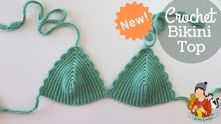 NEW Crochet Bikini Top Pattern For Any Size