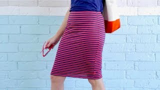 How To Sew A Pencil Skirt, In 20 MINUTES!