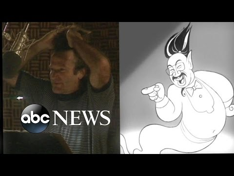 never before seen outtakes of robin williams in aladdin abc
