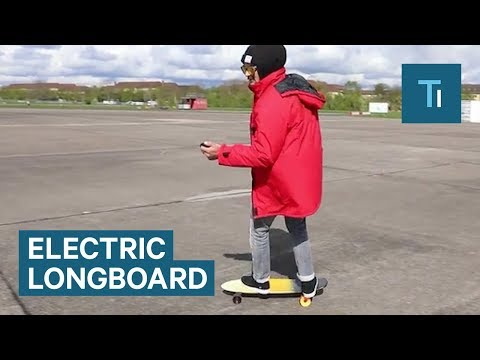 Anyone can become a skater with this remote-controlled longboard