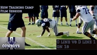 Dallas Cowboys Training Camp Highlights Part 2    D Law Calls Out Entire O Line    OL vs DL