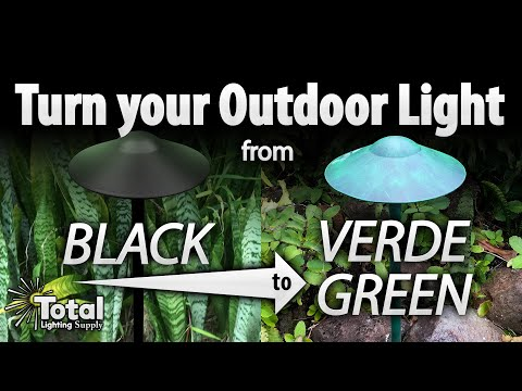 Turn your Outdoor Light from Black to Verde Green FAST!