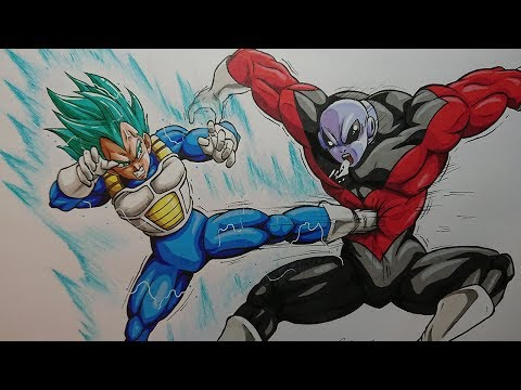 Drawing Jiren Vs Vegeta Goku Ultra Instinct Dragonball Super