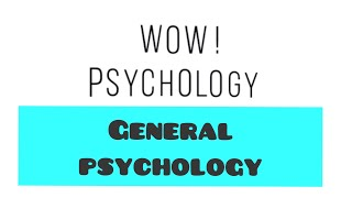 General Psychology (in Hindi) Pure branch of Psychology #mental #health #awareness - BRANCH