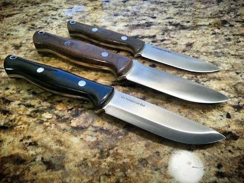 Bark River Gunny Variations/ Comparison, Bushcraft knives - смотреть