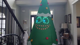 Gemmy 2019 11ft Lightsync Christmas Tree Airblown Inflatable Review