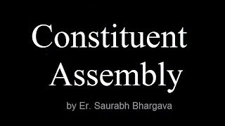 Indian Poliy Lecture for IAS/UPSC constituent assembly of India- IAS tutorials| UPSC preparation