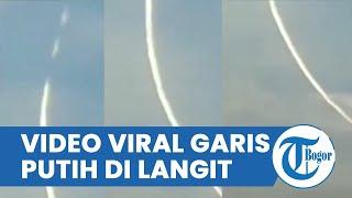 Viral Video Garis Putih di Langit, Disebut Racun di Sebar di Langit Jagakarsa, Ini Tanggapan TNI AU
