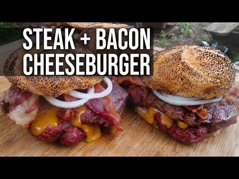 Steak 'n Bacon Cheeseburger by the BBQ Pit Boys