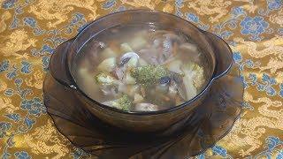 Суп с брокколи.
