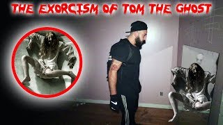 THE EXORCISM OF TOM THE GHOST // MOVING TOM TO A NEW HAUNTED HOUSE! | MOE SARGI