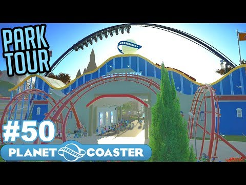 Let's TOUR the Ultimate Theme Park! - Planet Coaster - Part 50 (Full Park Tour)