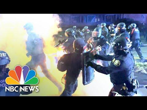 Unrest Follows Vigil For Daunte Wright In Portland, Oregon | NBC News NOW