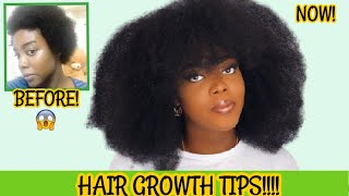 HOW I GREW MY NATURAL 4C HAIR SUPER FAST AND LONG! | GROW LONGER & HEALTHIER 4C NATURAL HAIR!!