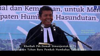 Khotbah Pdt.Demak Simanjuntak, M.Th-Syukuran Tahun Baru Humbahas 2019