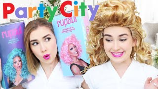 Trying Rupaul's Wig Collection From Party City !! OH MY