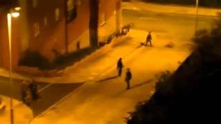 London Riots - Manchester Riot Police Beat Teenagers On Bikes.flv