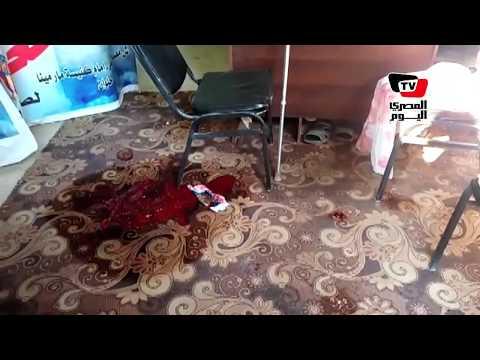اللقطات الأولي لحادث كنيسة حلوان عقب الحادث الإرهابي