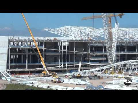 Entorno do estádio e obras da Arena Corinthians em 11/04/2013