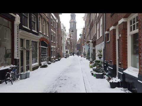 Dagje Amsterdam in de sneeuw