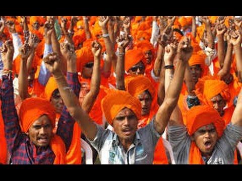 हिंदूवादी संगठनों का सांकेतिक धरना