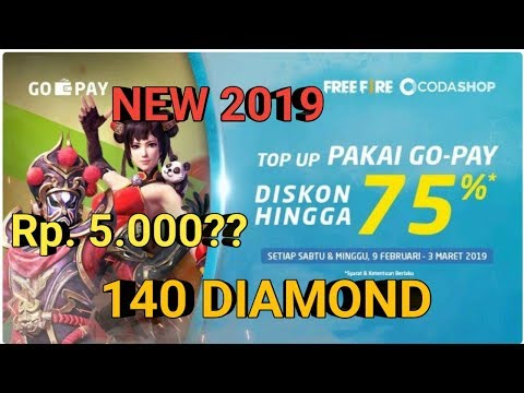 #Codashop Trik CARA mendapatkan Discont 75% TOP UP DIAMON MURAH FREE FIRE RP.5000 = 140 DIAMON