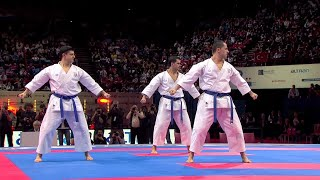 (2/2) Karate Japan vs Italy. Final Male Team Kata. WKF World Karate Championships 2012
