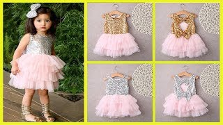 Baby Flower Girl Dress 2018 ! Tutu Princess Party Dress Girls Age 2 6T