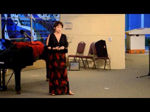 "Ahdda Shur, mezzo-soprano sings ""ACERBA VOLUTTA"" Live, 2014"