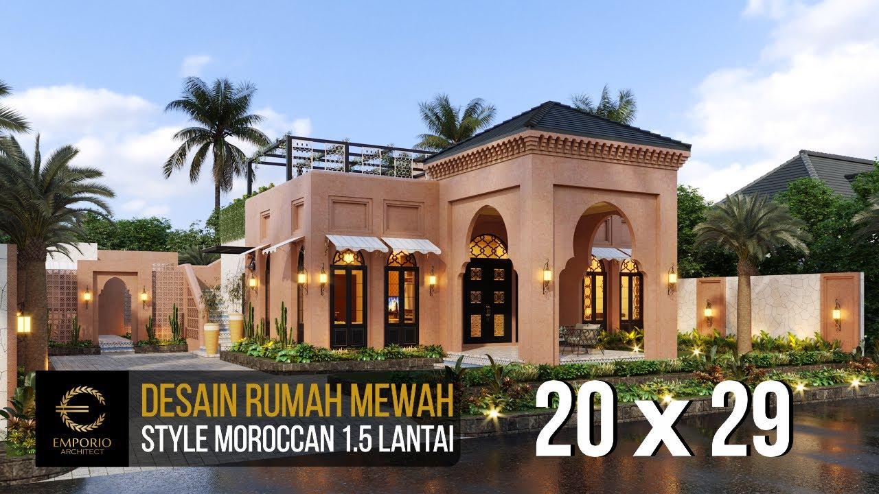 Video 3D Desain Rumah Moroccan Style 1.5 Lantai Bapak M. Ahmad di Cirebon, Jawa Barat