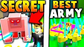 DEFEATING *SECRET* MAX ARENA BOSS WITH BEST POSSIBLE ARMY!! - Roblox Army Control Simulator