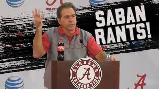 Nick Saban's best press conference moments and rants! (NSFW)