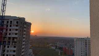 #Липецк. Сегодня супер закат с 21 этажа. #осень2019. 17.10.2019