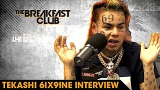 The Breakfast Club - 6ix9ine Explains Why He Loves Being Hated, Rolling With Crips And Bloods & Why He's The Hottest