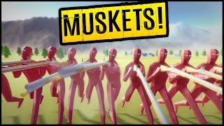 NEW MUSKETS vs PEASANT ARMY Massacre! Shots Go Through How Many? ➤ Totally Accurate Battle Simulator