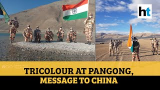 Ladakh: Clear message to China as soldiers hoist tricolour at Pangong lake - Download this Video in MP3, M4A, WEBM, MP4, 3GP