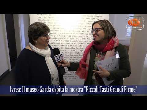 Preview video Ivrea: La Grande Invasione 2019, Mostra Piccoli Tasti Grandi Firme, intervista a Paola Mantovani.