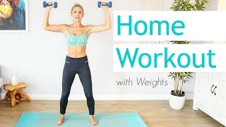 15 Minute Full Body Workout With Weights | Rebecca Louise by Rebecca-Louise