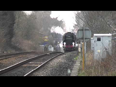 Sensational Steam Scenes at West Byfleet.