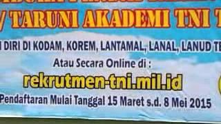 preview picture of video 'pendaftaran akpol, akmil AD AU AL 2015 sudah dibuka'
