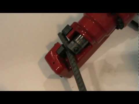 Ogura ORC-16DF Cordless Rebar Cutter Demonstration